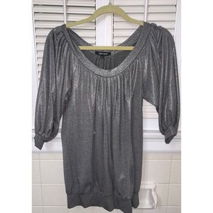 Karen Kane Silver Shimmer Bubble Dress